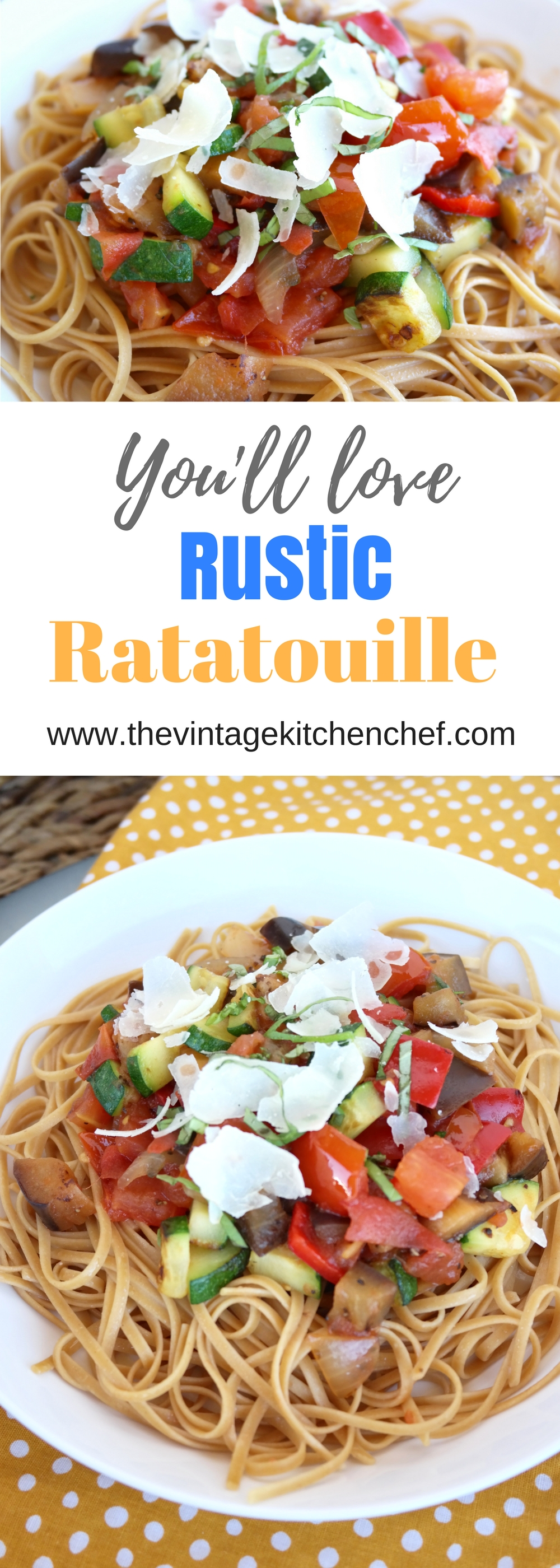 Rustic Ratatouille is a hearty, savory French Provencal ...