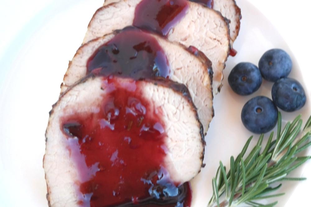 Pork Tenderloin with Berry Basil Sauce