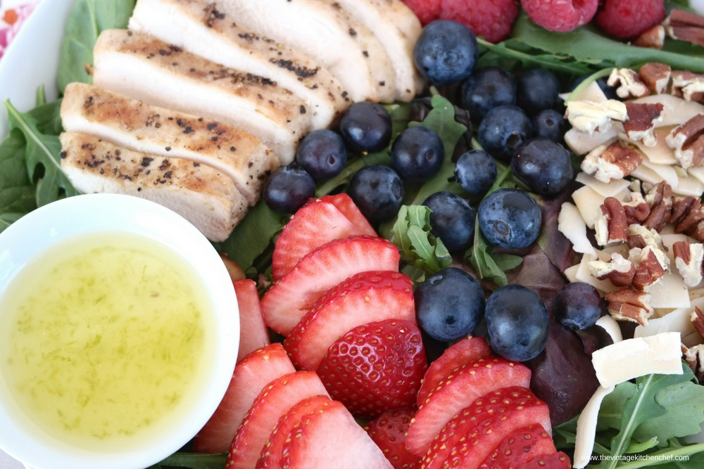 Jumbleberry Chicken Salad with Citrus Vinaigrette delights the taste buds with a mix of tangy and sweet flavors. What a fun way to enjoy a healthy meal!