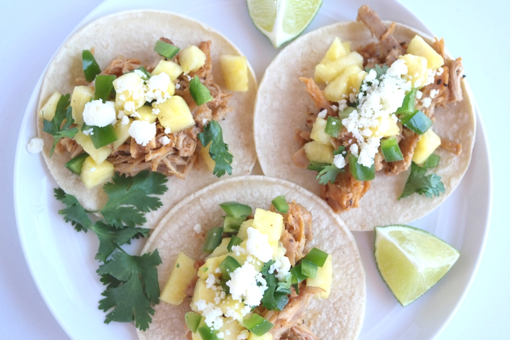 Fiery Pulled Chicken Tacos