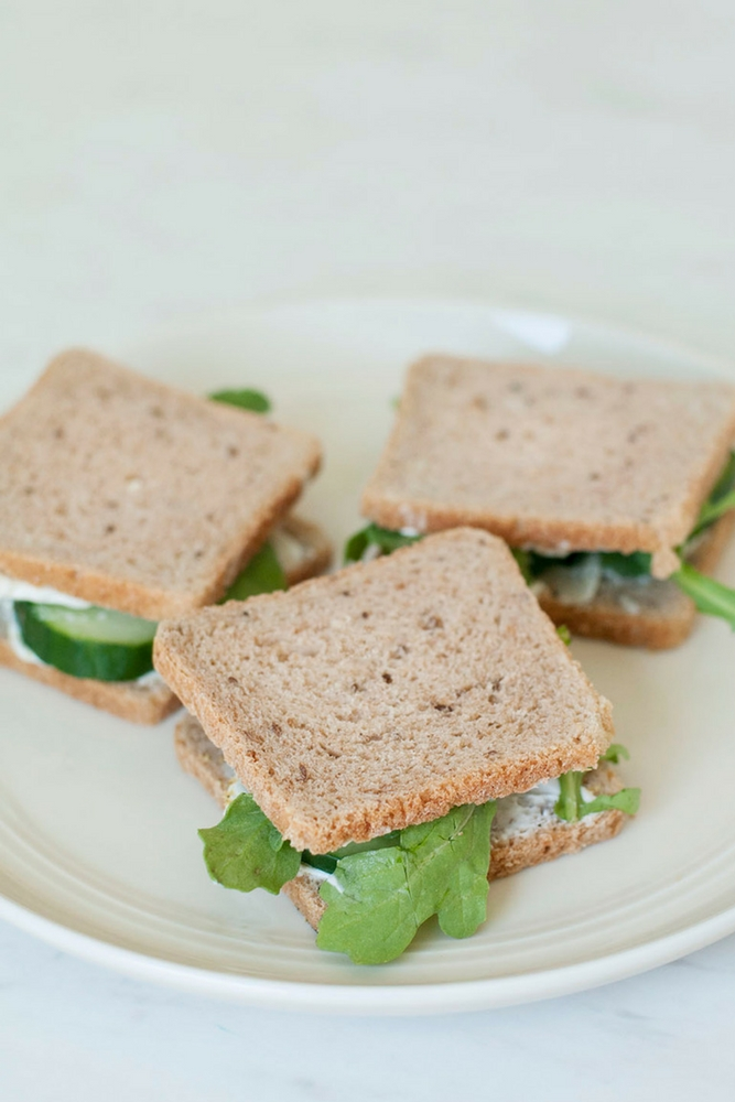 Lemony Cucumber Tea Sandwiches