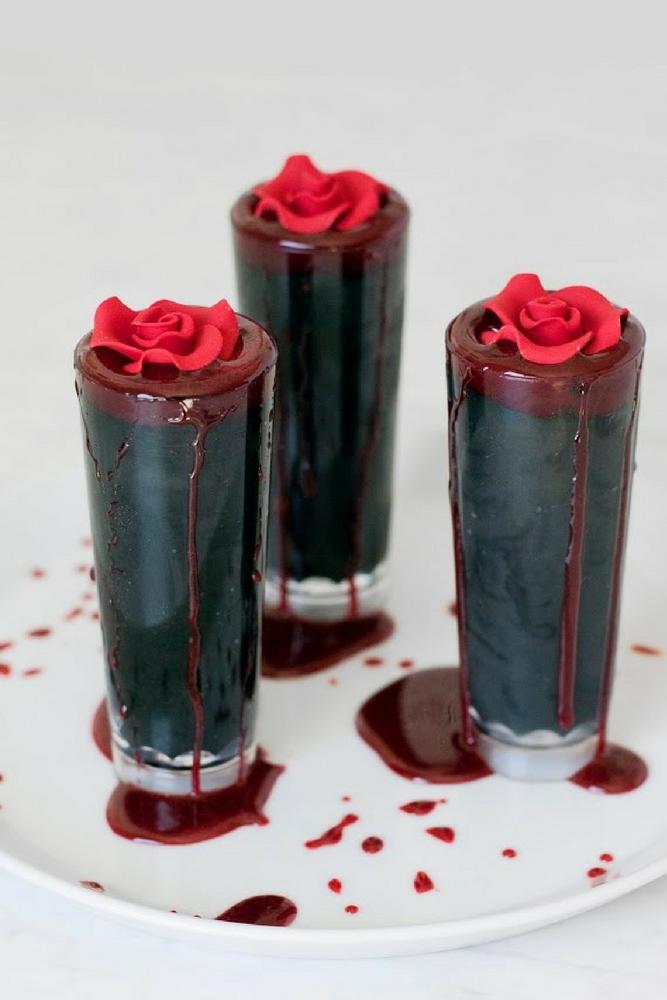 Vampire Chocolate Mousse Parfaits