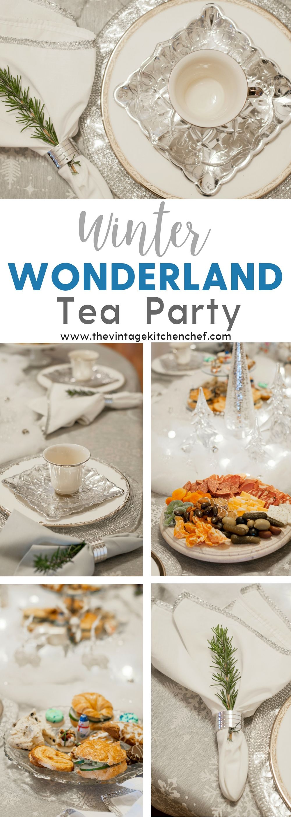 A magical Winter Wonderland tea party complete with sparkle, soft lights, delightful treats and a touch of whimsy! Time to relax and enjoy!