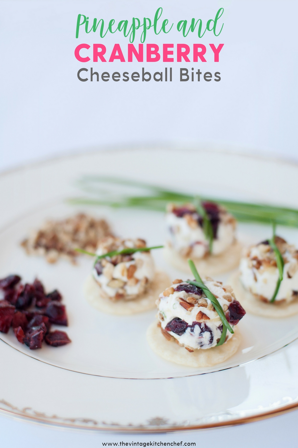 A bit of sweet with a touch of savory mini cheeseballs bites are all wrapped up and ready for your next party! Easy, cute and delicious!