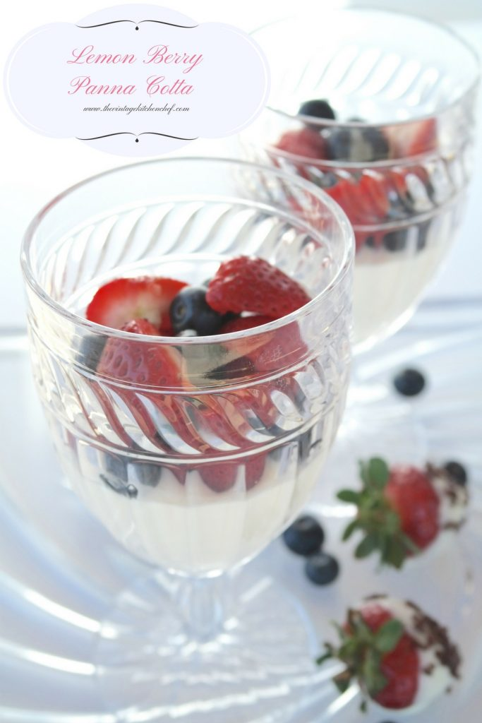 Lemon Berry Panna Cotta is an elegant dessert that is so simple to make. It's rich, smooth and creamy and will certainly be a crowd pleaser.