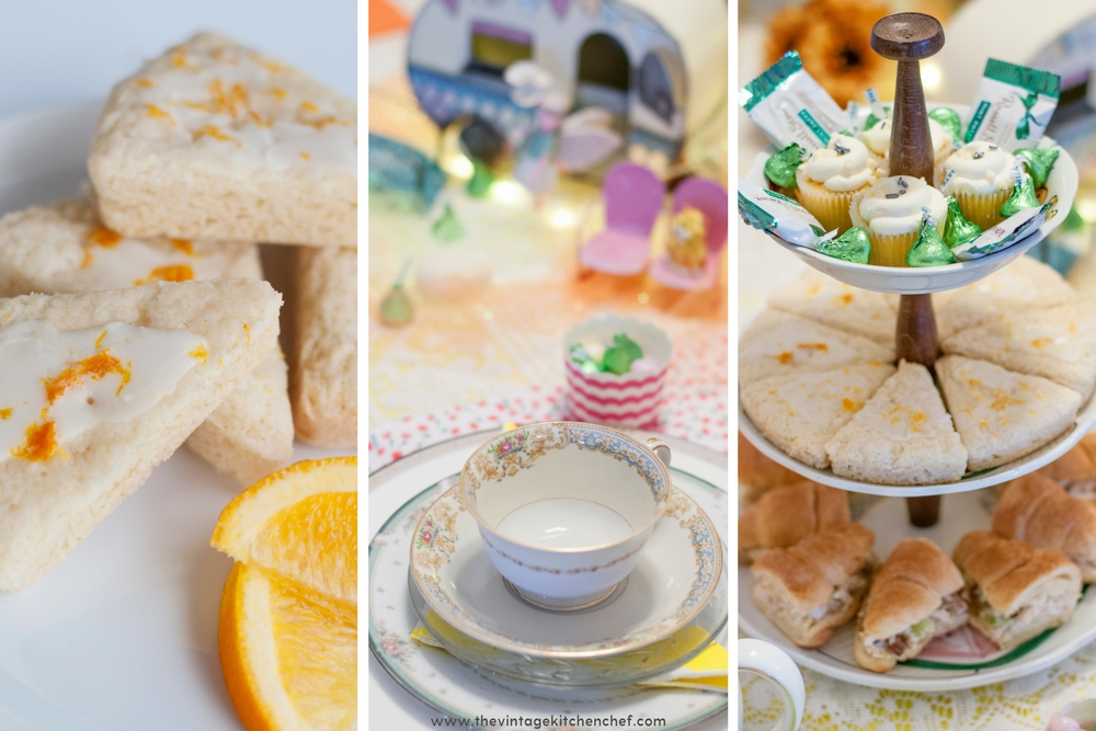 A combination of homemade yummies and store bought treats made the perfect menu for this charming tea party.