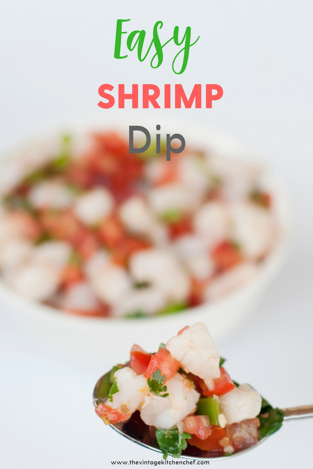 Easy Shrimp Dip is bursting with fresh flavors and textures. Whether it's served with tortilla chips, filling for tacos or on its own it's always a hit!