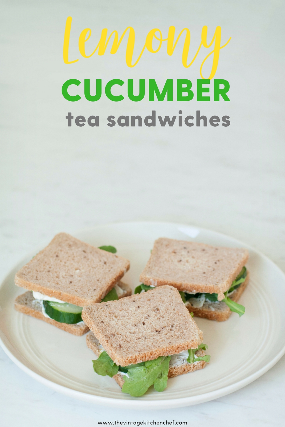 Lemony Cucumber Tea Sandwiches are delightful and incredibly easy. They are the perfect addition for tea time or anytime!