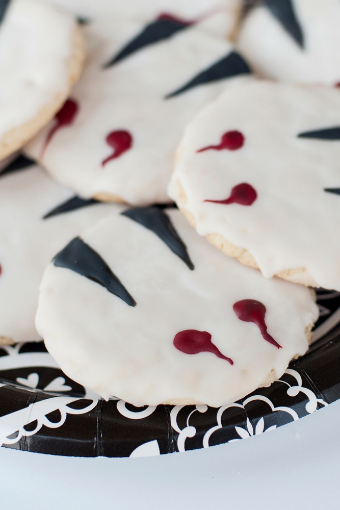 Vampire Bite Cookies are a great Halloween treat for little vampires (and big ones, too!) They are incredibly easy and fun to make.