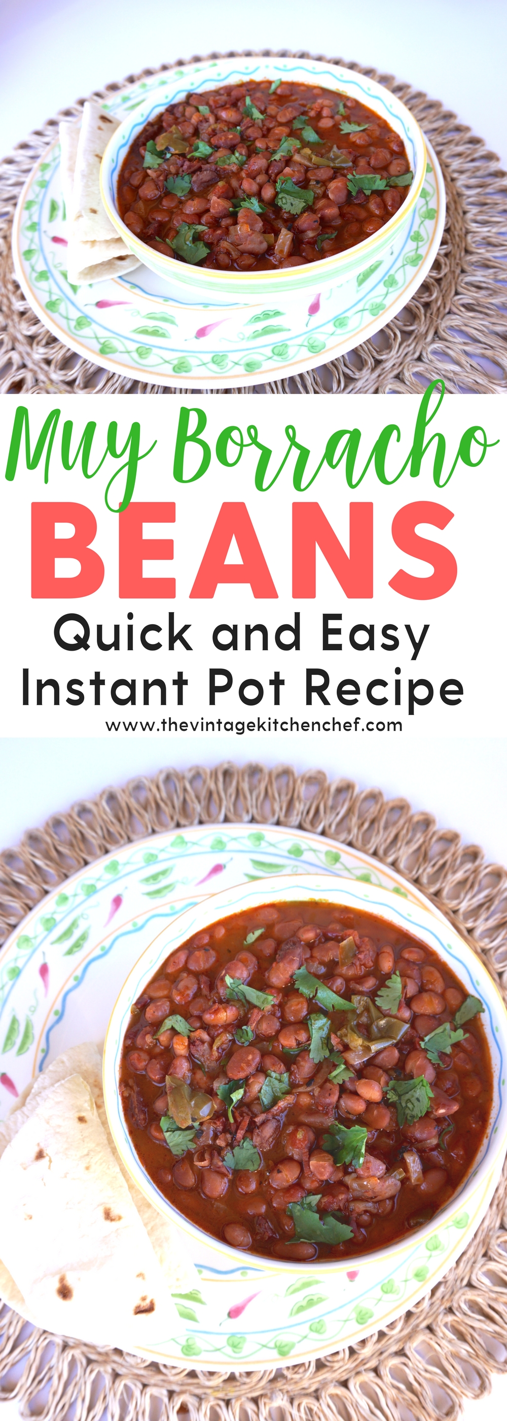 Make these delicious Muy Borracho (very drunk!) beans in your instant pot! They are so flavorful, fast and easy. Sure to be a favorite!