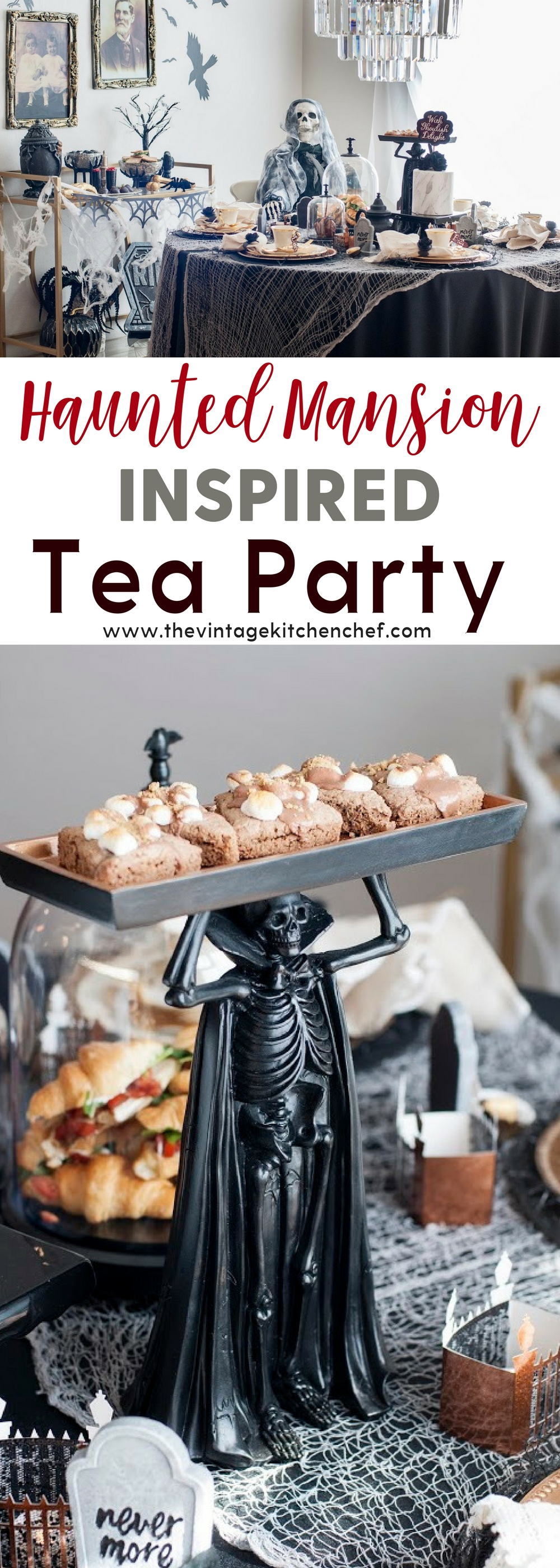 What's more fun than a Halloween tea party? A Haunted Mansion Inspired Tea Party, of course, complete with ghosts, ghouls, and delicious treats!