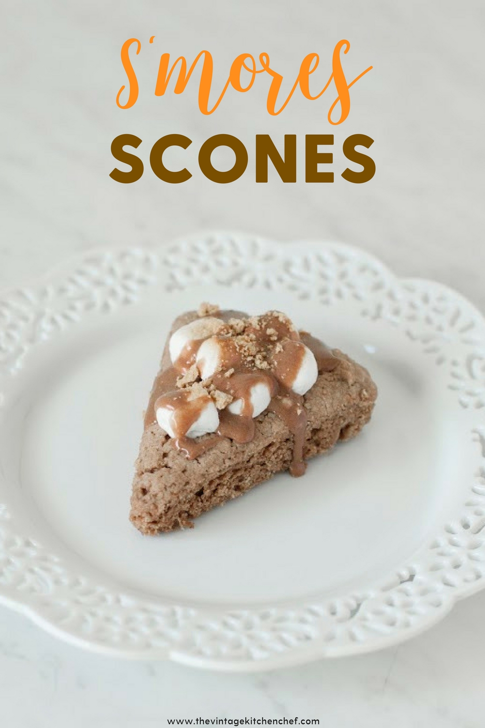 These are to die for and incredibly delicious with the yummy flavors of s'mores baked into light, fluffy scones! One just may not be enough!