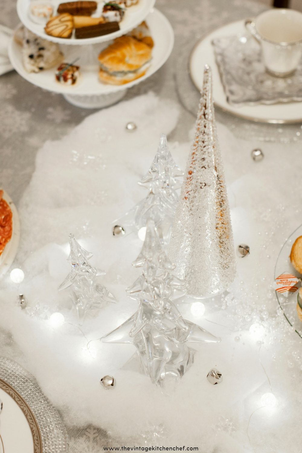 A Magical Winter Wonderland Tea Party Complete With Sparkle Soft Lights Delightful Treats And A Touch